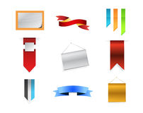 Banner signs concept icon set illustration Stock Photos