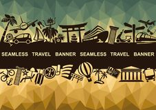 Banner with symbols of travel Royalty Free Stock Image
