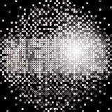 Banner of silver sequins Stock Image