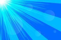 Banner sky, rays. Abstract blue summer background. Vector illustration Royalty Free Stock Image