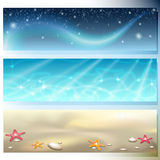 Banner with sky, sea and sand Royalty Free Stock Photography
