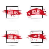 Banner and smear paint. Royalty Free Stock Photo