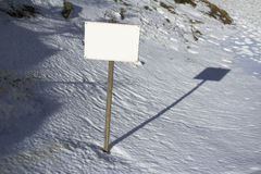 Banner, snow and winter Stock Photography