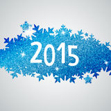 Banner with snowflakes Royalty Free Stock Photography