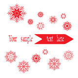 Banner with snowflakes Royalty Free Stock Image