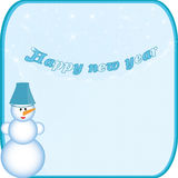 Banner snowman Royalty Free Stock Photos