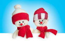 Banner with snowmen Royalty Free Stock Photo
