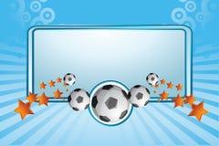 banner soccer иллюстрация штока