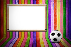 Banner and soccer ball Stock Images