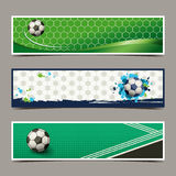 Banner soccer design Stock Images