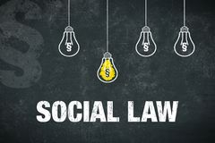 Banner social law stock image