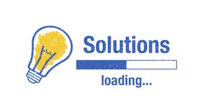 Banner solutions loading Royalty Free Stock Images