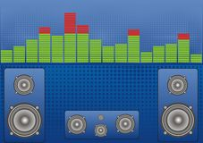 Banner sound level and speakers Royalty Free Stock Photos