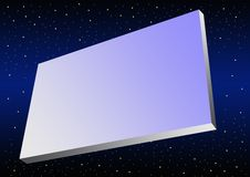 Banner in space Royalty Free Stock Photo