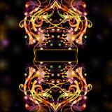 Banner space black fantasy bright background flowe Stock Photos