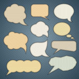 Banner & speech bubbles. Royalty Free Stock Images