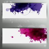 Banner with splash on abstract background Stock Photos