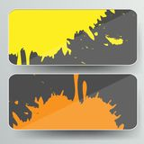 Banner with splash on abstract background Royalty Free Stock Images