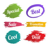 Banner splash set for promotion Royalty Free Stock Photography