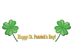 Banner St.Patrick's Day. With blank space stock illustration