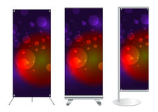Banner stand display with identity background Royalty Free Stock Photography
