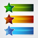 Banner star Royalty Free Stock Photos
