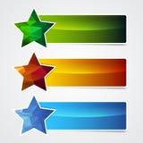 Banner star Royalty Free Stock Photos