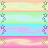 Banner star. Web banner theme stars pastel colors Stock Images