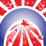 Banner with stars and stripes Stock Photo