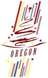 Banner State of Oregon Royalty Free Stock Images