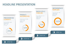 Banner steps business infographic template. Can be used for web design and workflow layout. Vector ilustration Royalty Free Stock Image