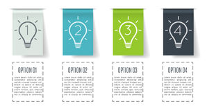 Banner steps business infographic template with step up options.  Royalty Free Stock Photo