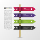 Banner steps business template. Infographic design Royalty Free Stock Photography