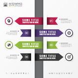 Banner steps business template. Infographic design. Vector. Illustration Stock Image