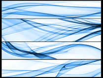 Banner stripes. A set of blue wave compositions Royalty Free Stock Photos
