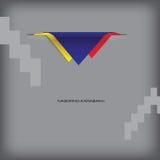 Banner with stylized Nagorno-Karabakh flag Stock Photography