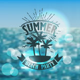 Banner for summer beach party Royalty Free Stock Photography