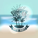 Banner for summer beach party Royalty Free Stock Photo
