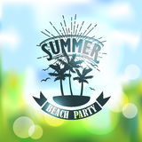 Banner for summer beach party Stock Image