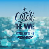 Banner for summer beach vacation Royalty Free Stock Photos