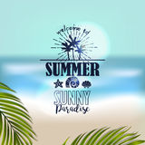 Banner for summer beach vacation Stock Images
