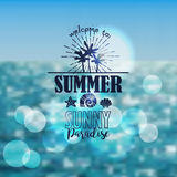 Banner for summer beach vacation Stock Photography