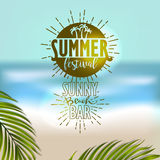 Banner for summer beach vacation Stock Photos