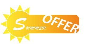 Banner summer offer Royalty Free Stock Photography