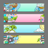 Banner summer theme vector illustration Royalty Free Stock Image