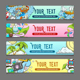 Banner summer theme vector illustration Stock Photo