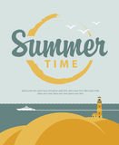 Banner summer time with sea Royalty Free Stock Images