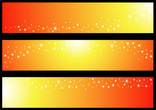Banner with Sun Royalty Free Stock Photos