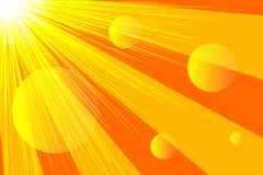 Banner sunlight, rays. Abstract yellow and orange summer background. Vector illustration vector illustration