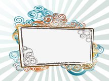 Banner with swirl background. Illustration of Banner with swirl background Royalty Free Stock Images